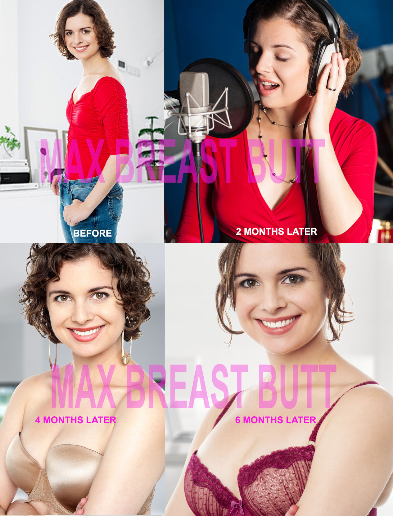 MAX BREAST BUTT - The Natural Breast Enlargement Butt Enhancement Pills. The best for Menopause or Perimenopause Treatment for Women Testimonials
